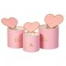 """Набор коробок """"Амурные дела"""" 3 шт, розовые (8300-024)"""