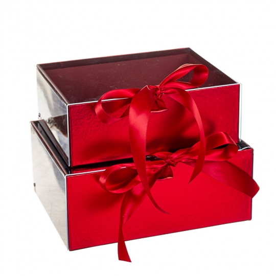 """Набор коробок """"Комплемент"""" 2 шт, красный (8300-034)"""