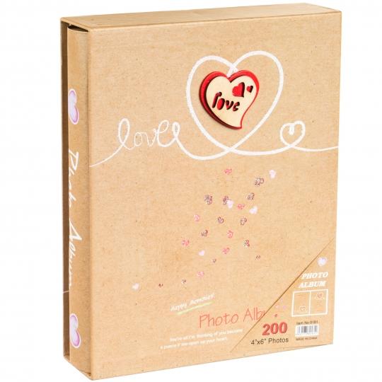 """Фотоальбом """"Love"""" 200 фото 10*15 см. (0607J)"""