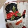 """Чашка """"Веселый снеговик"""", небольшие сколы,повреждения (заводской брак) (00BR-007NR)"""