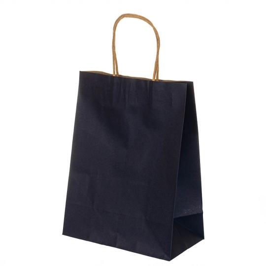 Крафтовый пакет синий 27*21*11 см (8208-007)