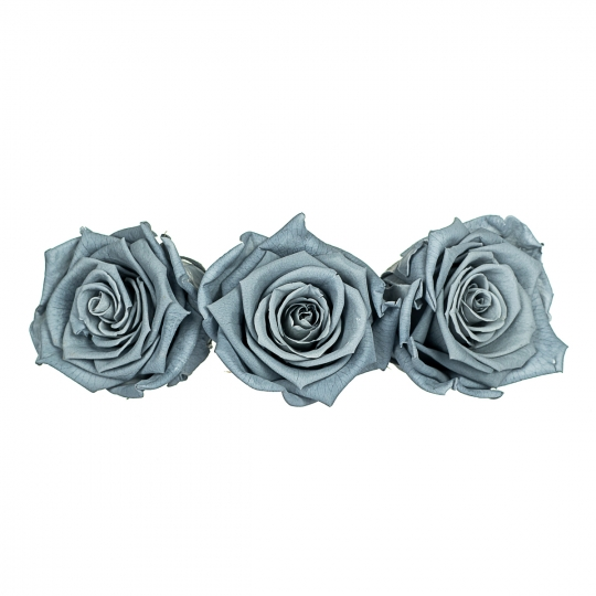 Стабилизированная роза, серо-голубая (8430-015)