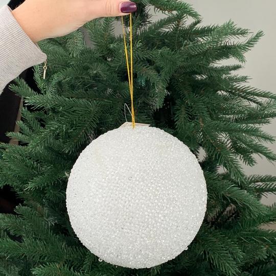 """Новогодняя игрушка """"Заснеженный шар"""", 15 см (6018-047)"""