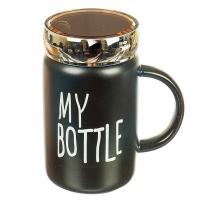 """Кружка """"Для любимых напитков"""" (черный цвет), 420мл"""