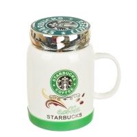 "Кружка ""Starbucks"" (зеленый логотип), 420мл"