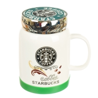 "Кружка ""Starbucks"" (черный логотип), 420мл"