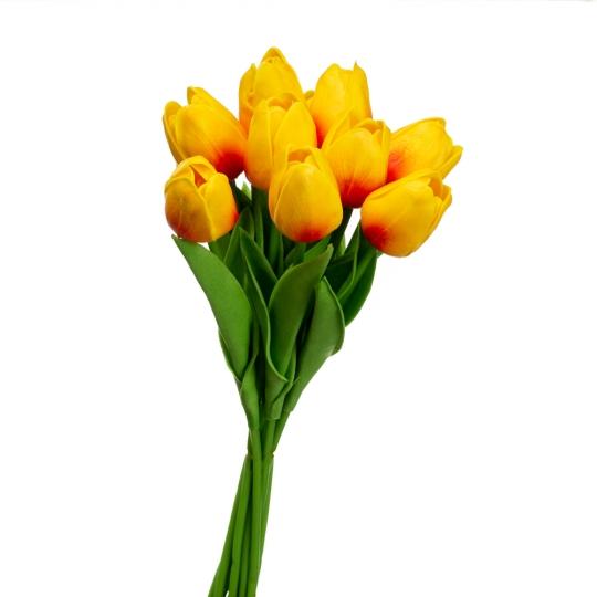 Букет тюльпанов, желто-розовый (8606-007)