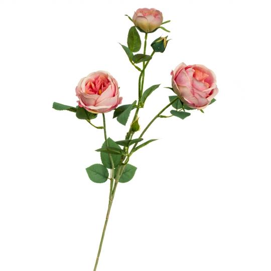Ветка розы, розовая (8721-010)