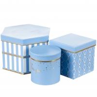 "Набор коробок для цветов ""Для тебя"" (голубой цвет), (22*20*15см)"