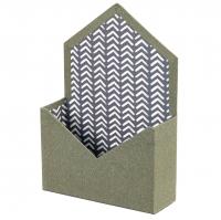 """Коробка для цветов """"Сюрприз"""" (зеленый цвет), (14*14*18см)"""