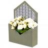 "Коробка для цветов ""Сюрприз"" (зеленый цвет), (14*14*18см) (003YA-b)"