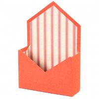 """Коробка для цветов """"Сюрприз"""" (красный цвет), (14*14*18см)"""