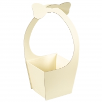 "Коробка для цветов ""Бантик"" (желтый цвет), (20*21*35см)"