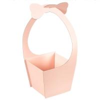 """Коробка для цветов """"Бантик"""" (розовый цвет), (20*21*35см)"""