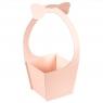 """Коробка для цветов """"Бантик"""" (розовый цвет), (20*21*35см) (004YA-pn)"""
