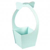 """Коробка для цветов """"Бантик"""" (бирюзовый цвет), (20*21*35см)"""