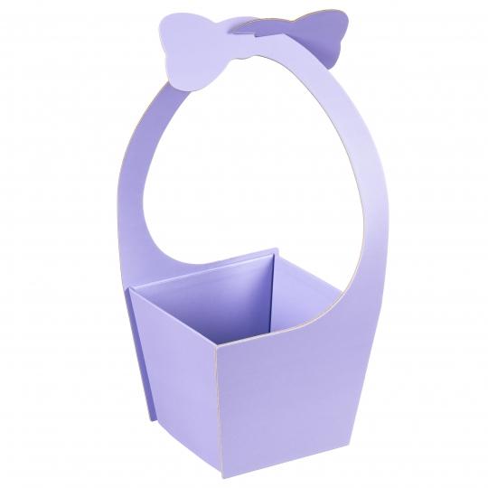 """Коробка для цветов """"Бантик"""" (голубой цвет),  (20*21*35см) (004YA-bl)"""