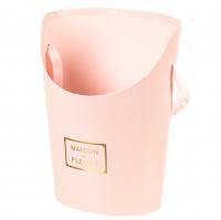 """Коробка для цветов """"Цветочный дом"""" (розовый цвет), (12*17*22см)"""