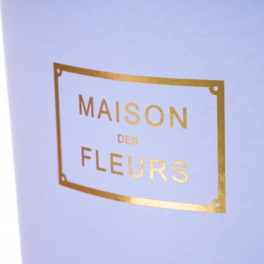 """Коробка для цветов """"Цветочный дом"""" (голубой цвет), (12*17*22см)"""