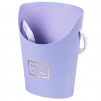 """Коробка для цветов """"Цветочный дом"""" (голубой цвет), (10*15*19см)"""