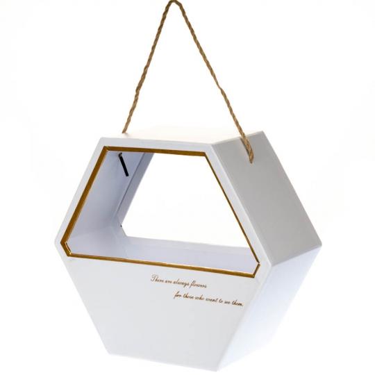 Коробка для цветов (0063J/wh)