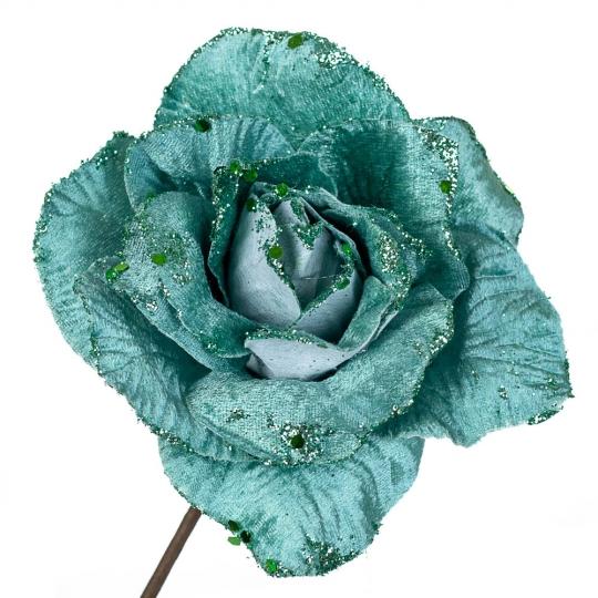 "Цветок ""Зимняя роза"" изумруд (6009-045)"