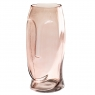 """Cтеклянная ваза """"Силуэт"""", розовая 31 см. (8605-014)"""