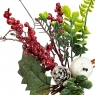"""Ветка """"Остролист  с ягодами и зелеными листочками"""" (030NM)"""
