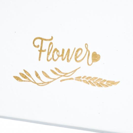 """Коробка для цветов """"Корзинка сердце"""" белая (0590J)"""