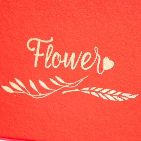 """Коробка для цветов """"Корзинка сердце"""" красная (0591J)"""
