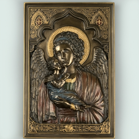 """Картина """"Мария с младенцем"""" (16*23 см) (76615A4)"""