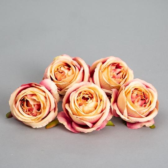 Головка розы 6 см. *рандомный выбор цвета (8502-001)
