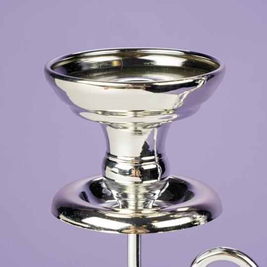 Подсвечник на 3 свечи, хром (68 см.) (2011-019)