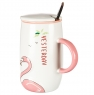 """Кружка, серия """"Фламинго на отдыхе"""" (500мл) *рандомный выбор дизайна (0498JH)"""