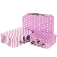 "Набор коробок ""Винтаж"" (лиловый цвет) 3шт."