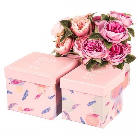 """Набор коробок """"Только для тебя"""" (пудровый цвет) 3шт."""