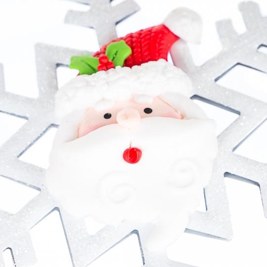 """Ёлочное украшение """"Дед Мороз и снежинка"""" (0515J)"""