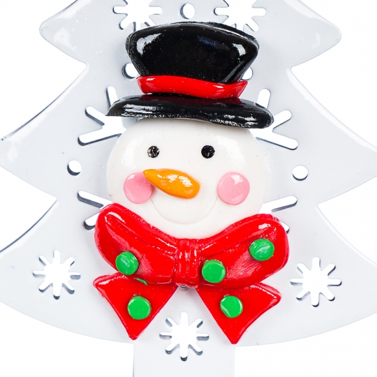 Новогодняя подвеска снеговик,дед мороз  на ёлке (0517J)