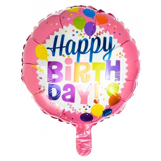 "Шар надувной ""Happy birthday"" (pink) (8026-004)"
