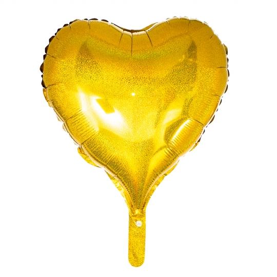 """Шар надувной """"Сердце"""" (gold) (8026-012)"""