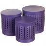 "Набор коробок ""Zigzag"" (цилиндр,  фиолетовый цвет) шт. (0099JA-C)"