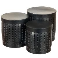 """Набор коробок """"Zigzag"""" (цилиндр,  черный цвет) шт."""