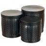 "Набор коробок ""Zigzag"" (цилиндр,  черный цвет) шт. (0099JA-D)"