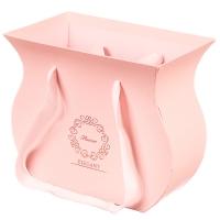 """Коробка для цветов """"Зефирка"""" (розовый цвет) 1шт."""
