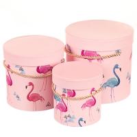 "Набор коробок ""Утонченный фламинго"" (пудровый цвет) 3шт."
