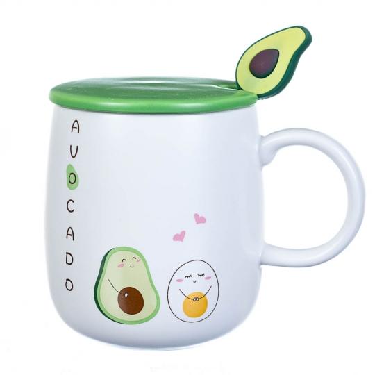 """Чашка """"Авакадо"""" 400 мл *рандомный выбор дизайна (8200-007)"""