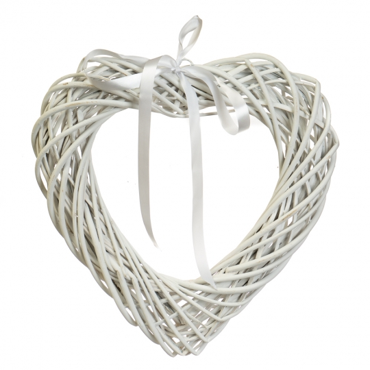 """Венок подвесной из лозы """"Объёмное сердце"""" 35*35 см (5002-008)"""