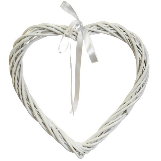 """Венок подвесной из лозы """"Изящное сердце"""" 34*34 см (5002-014)"""