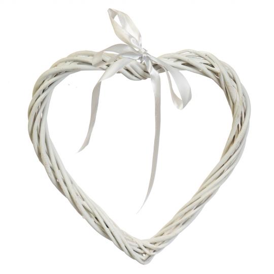 """Венок подвесной из лозы """"Изящное сердце"""" 25*24 см (5002-016)"""