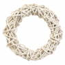 "Венок из лозы белый ""Плетёный круг"" белый 29 см (5002-020)"